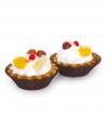 Пирожное Корзиночка сливки с фруктами