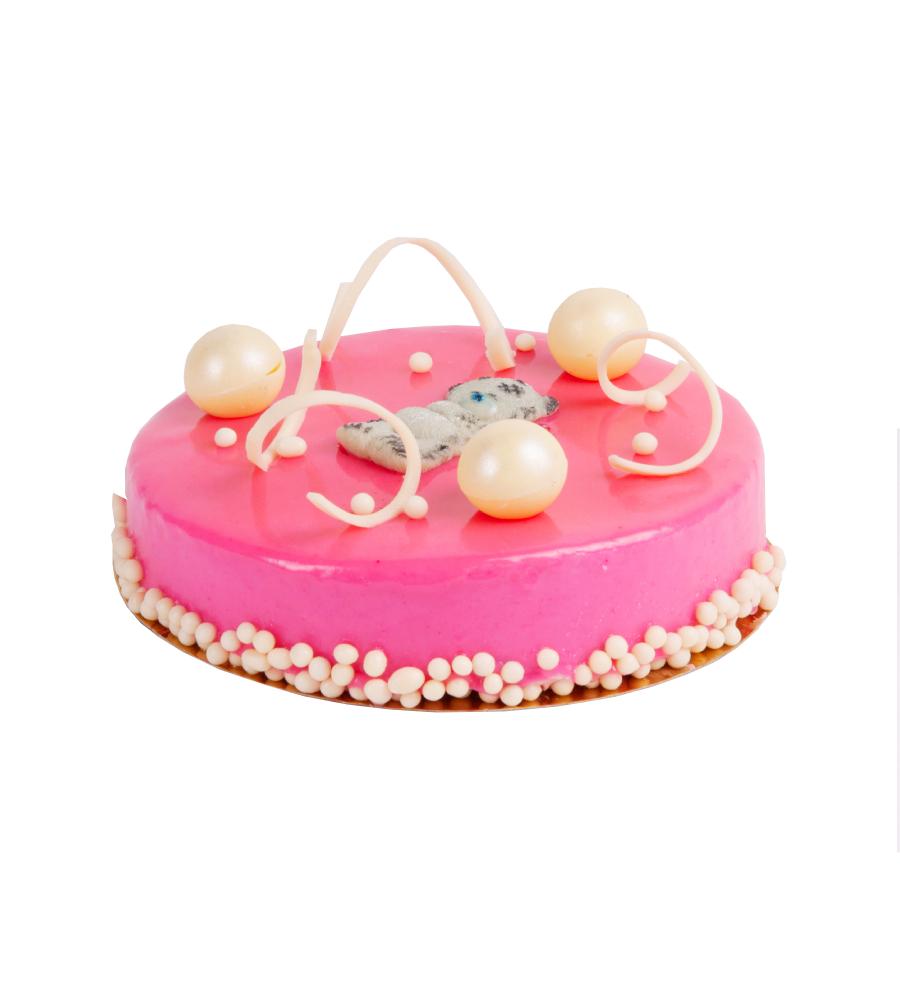 Торт «Мишка» (мусс клубника-йогурт)