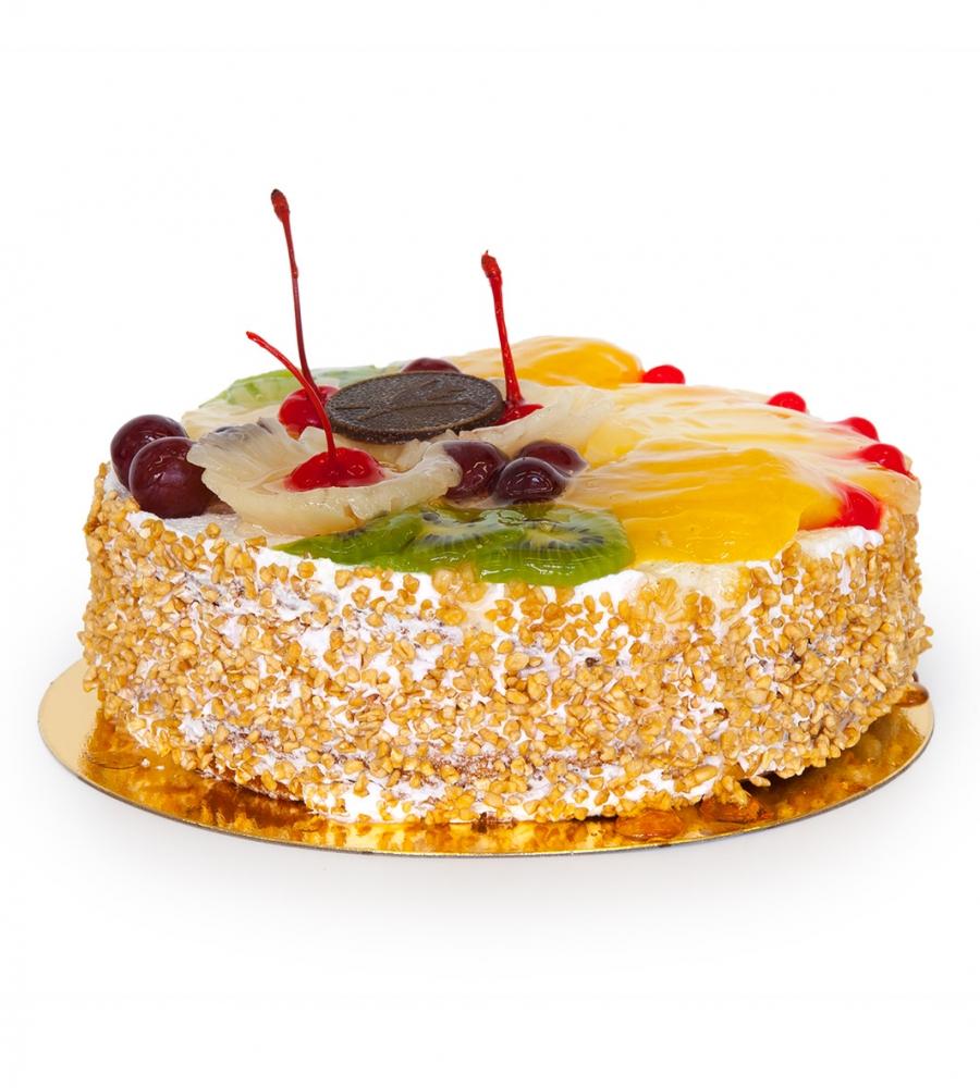 Торт Сливки с фруктами