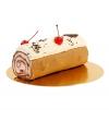 Рулет шоколадно-вишневый