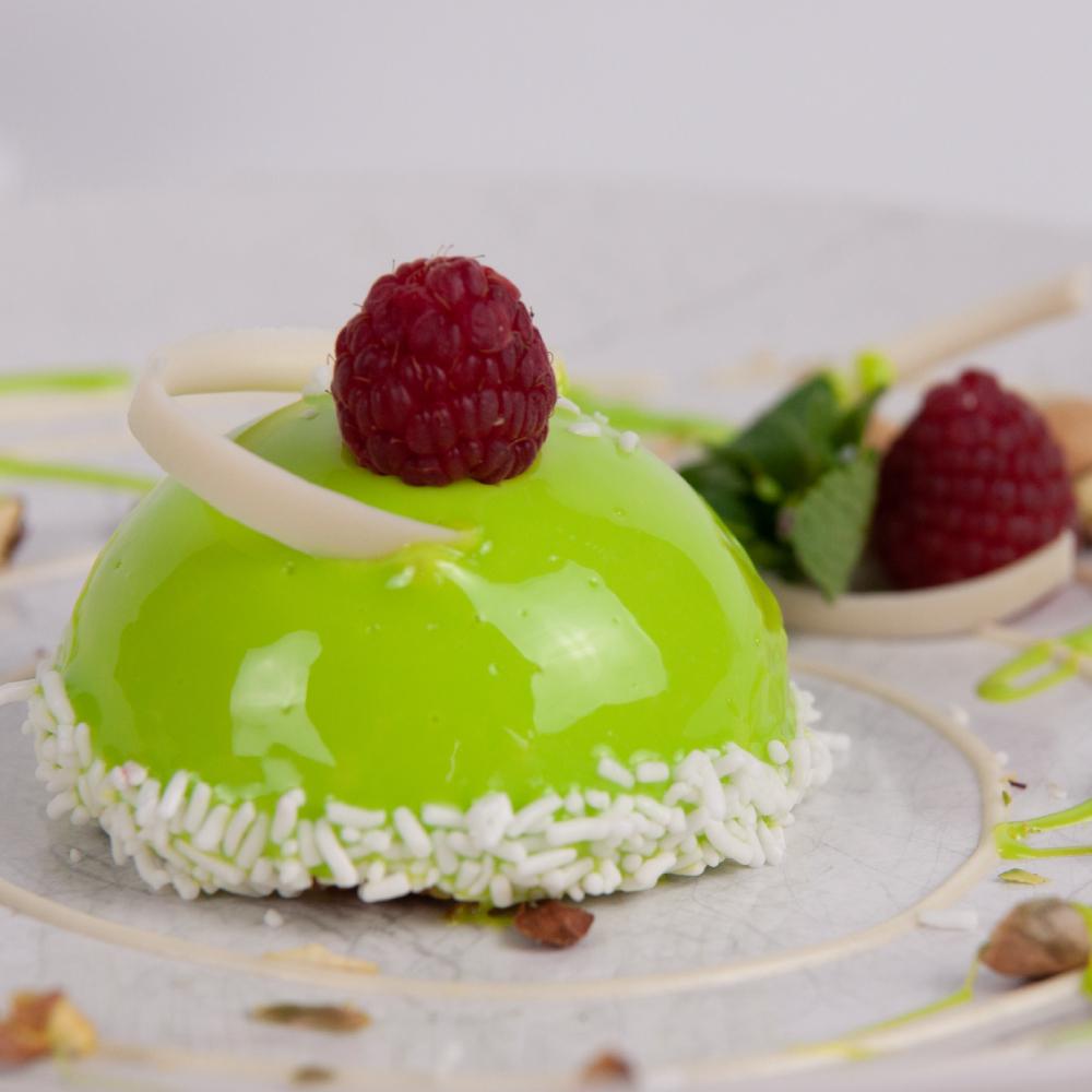 Десерт Мусс фисташка-малина