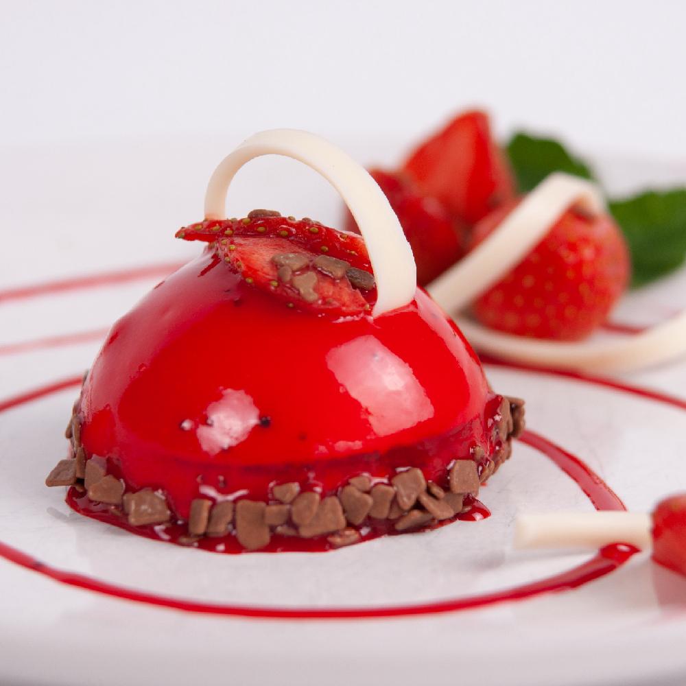 Десерт Мусс клубника-йогурт